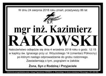 mgr inż. Kazimierz Rakowski