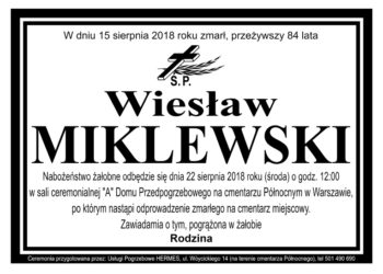 Wiesław Miklewski