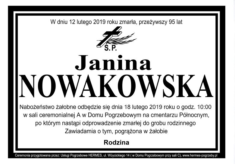 Janina Nowakowska